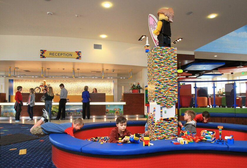 The Legoland Hotel lobby. The park is proposing a second hotel nearby to the west.