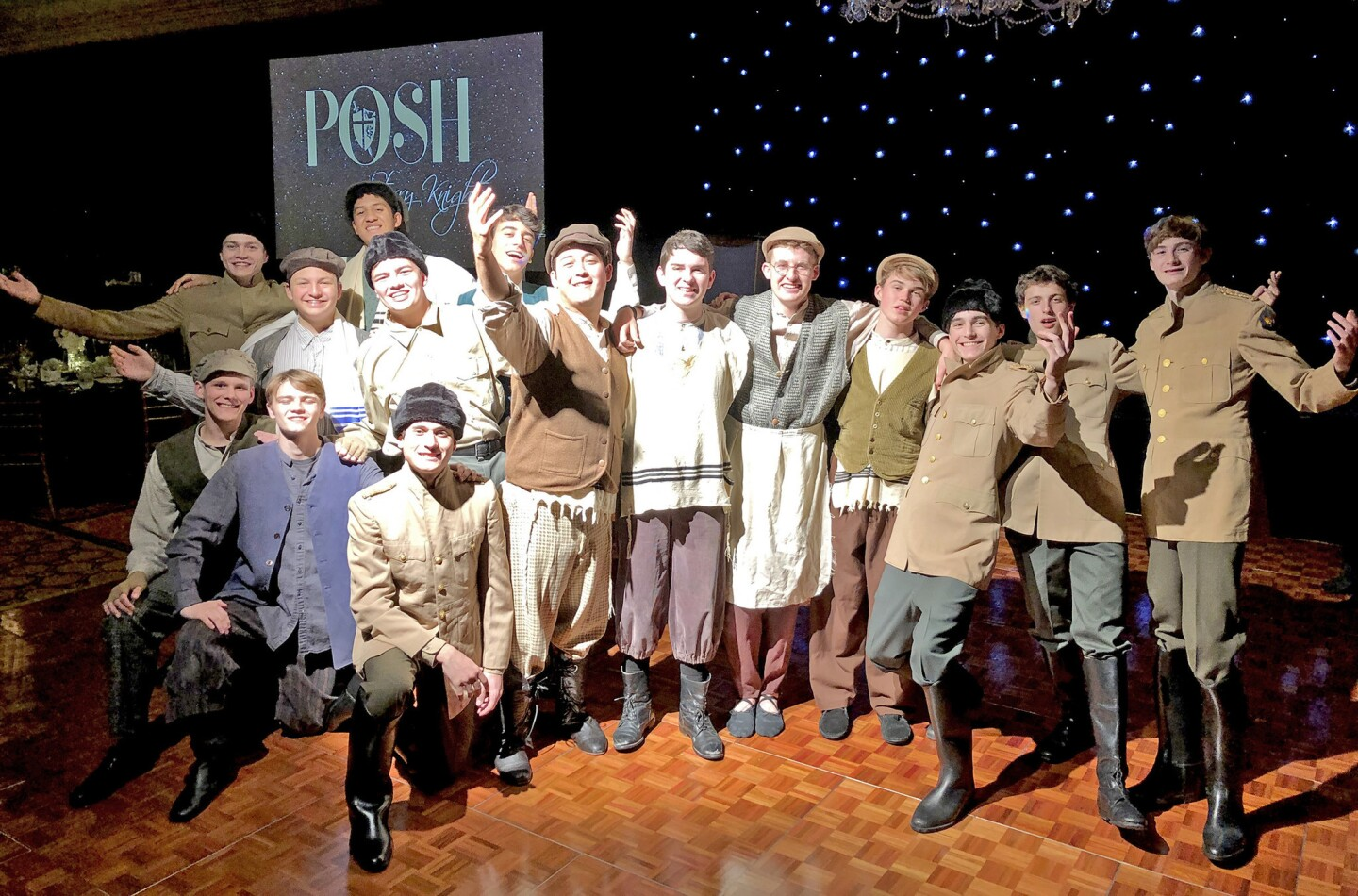 """The ensemble from the St. Francis High School's upcoming production of """"Fiddler on the Roof"""" entertained guests at the school's benefit POSH event, held March 23 at the Langham Huntington Hotel in Pasadena."""