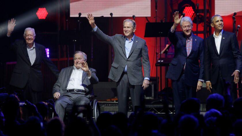Barack Obama George Bush, George W. Bush, Jimmy Carter, Bill Clinton