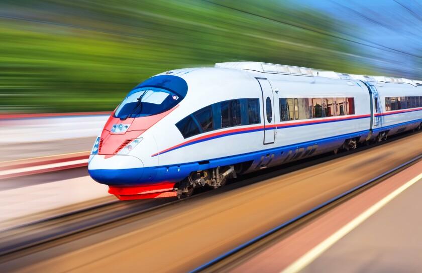 a high speed train