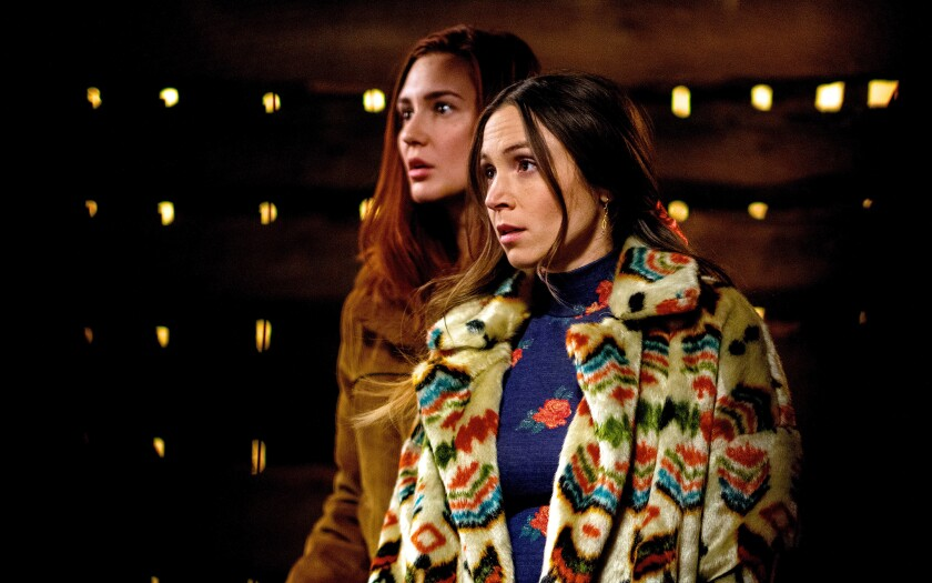 """Katherine Barrell and Dominique Provost-Chalkley in """"Wynonna Earp"""""""