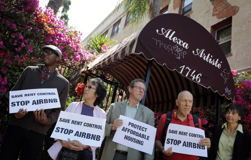 Activists protest Airbnb