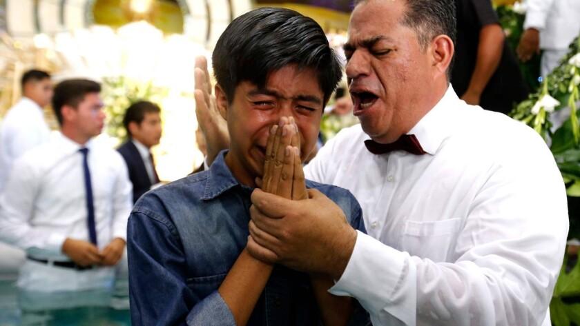 MEXICO-RELIGION-LUZ DEL MUNDO-BAPTISM