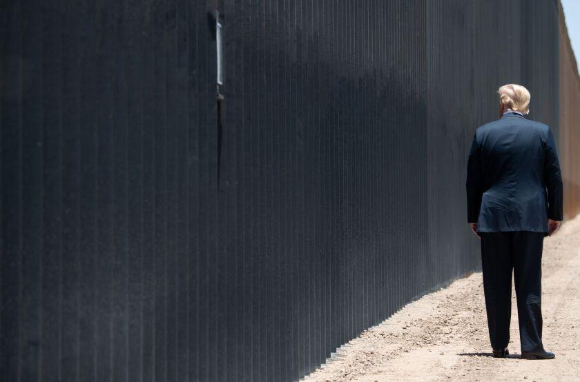 Trump at the wall