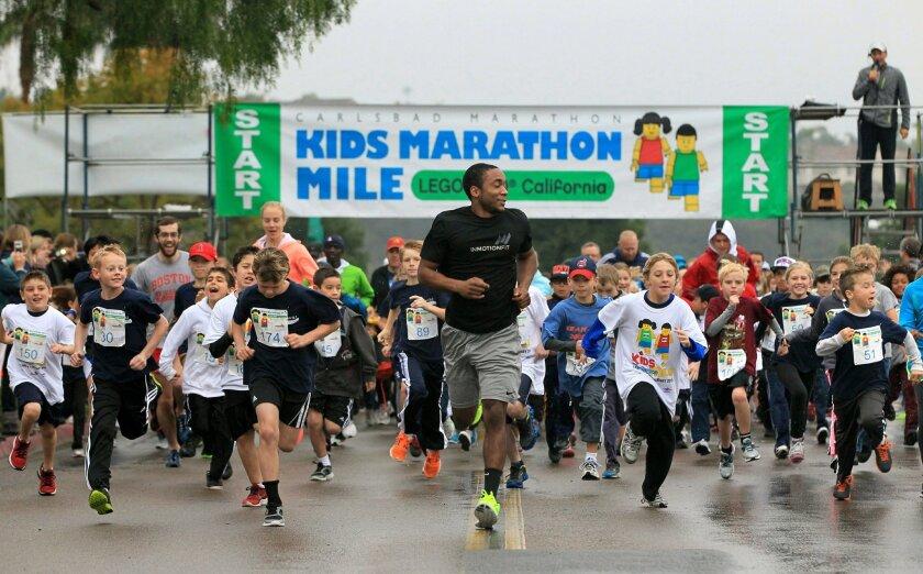 The Kids Marathon Mile in Carlsbad