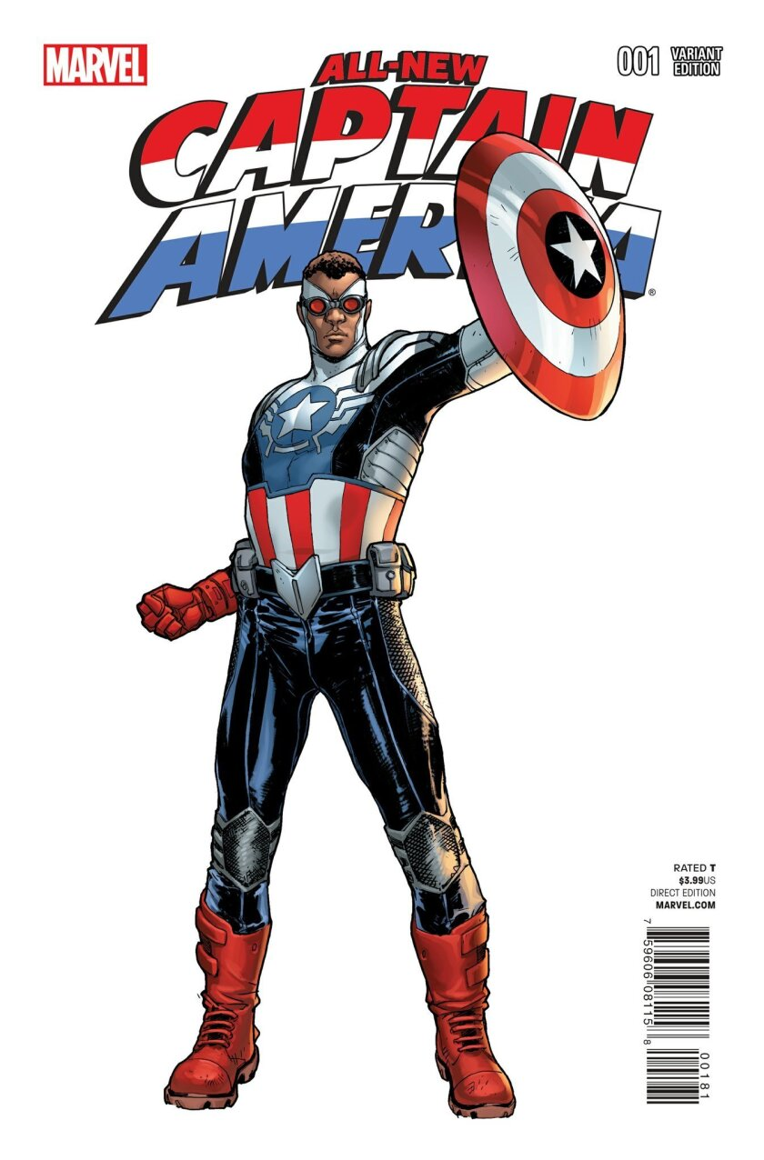 "A comic book cover image released by Marvel shows the ""All-New Captain America."""