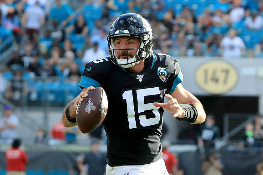 Rookie quarterback Gardner Minshew will get his ninth start of the season Sunday against the Chargers.