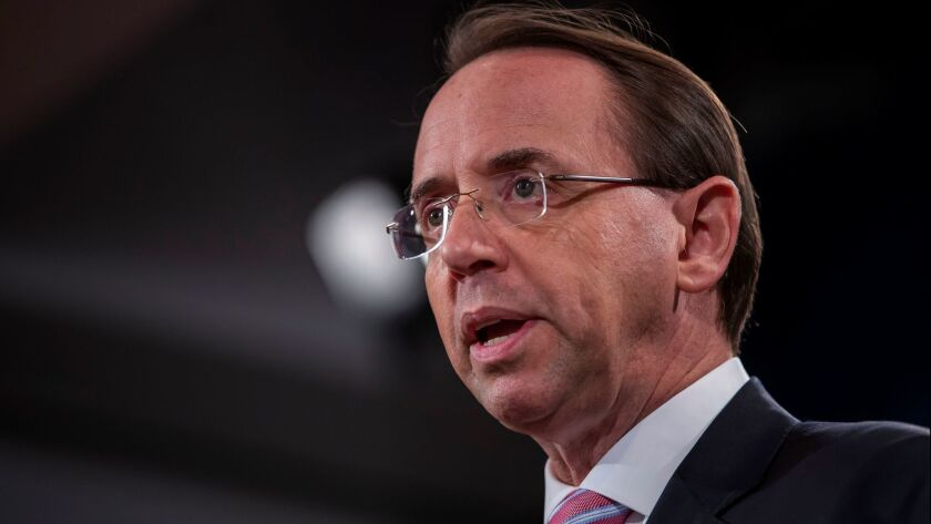Deputy US Attorney General Rod Rosenstein expected to resign from Justice Department in mid-March, Washington, Dc, USA - 20 Dec 2018