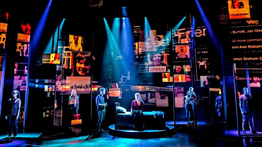 """Dear Evan Hansen,"" with its own swirl of isolation, loss and love in a world saturated by social me"