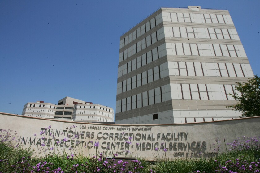 The Twin Towers Correctional Facility in Los Angeles.