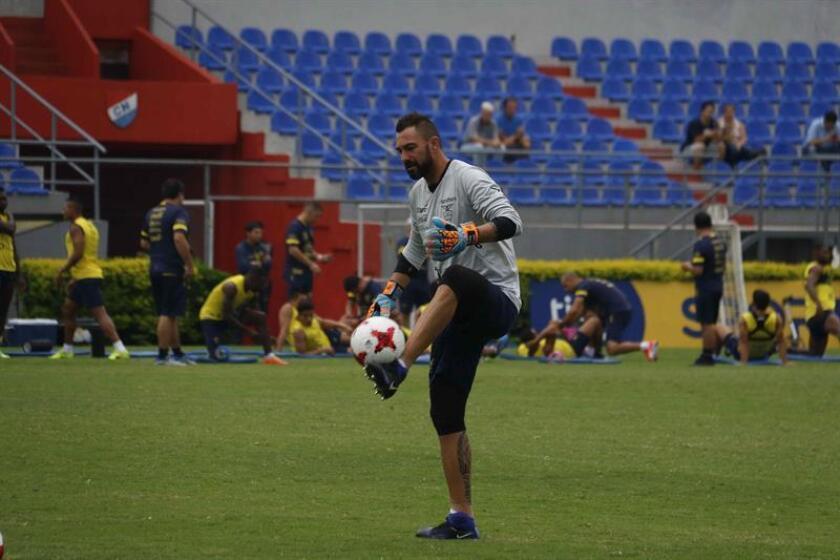 Esteban Dreer, portero y capitán del equipo de Emelec de Ecuador. EFE/Archivo