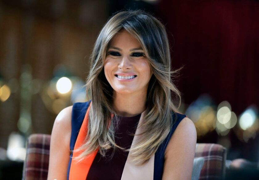Smoke and a burning smell on First Lady Melania Trump's flight to Philadelphia Wednesday forced her plane to head back to Maryland air base.