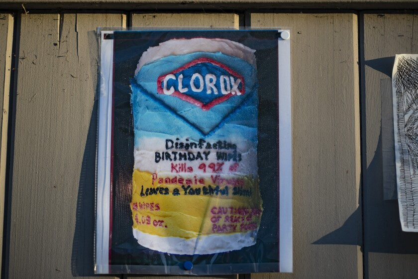Image of a Clorox bottle at the Museum of Quarantine