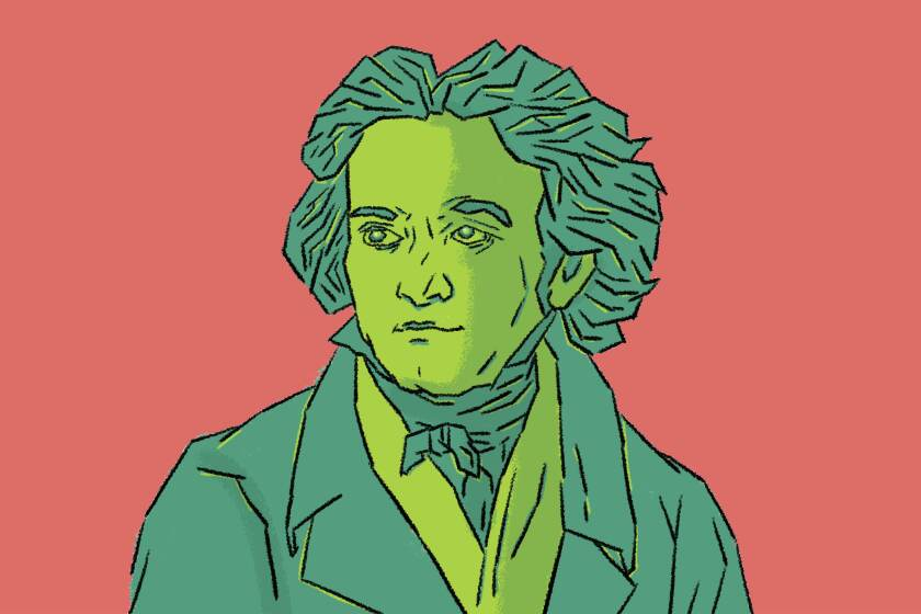 An illustration of Ludwig van Beethoven.
