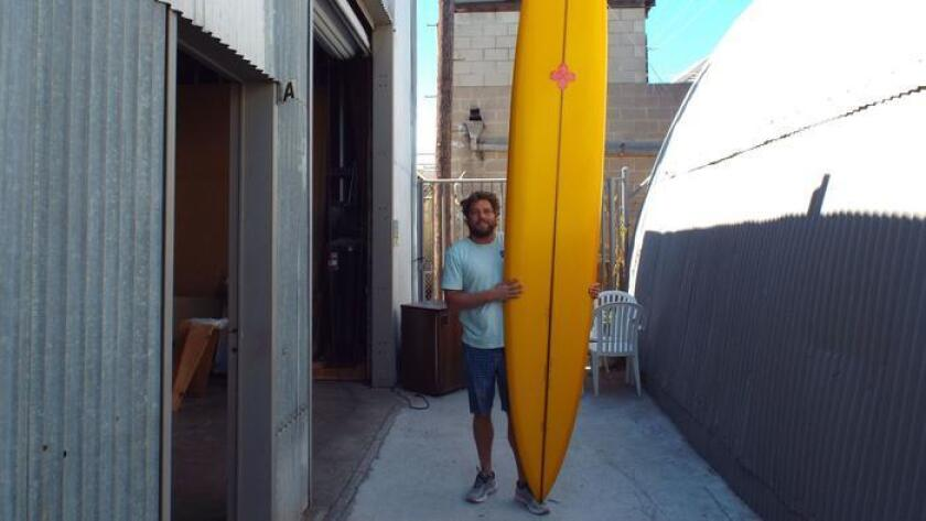 San Diego surfboard maker Josh Hall focuses on craftsmanship. (Ken Lewis)
