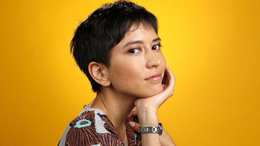 """EL SEGUNDO, CA-AUGUST 7, 2018: Sonoya Mizuno, actress in the film, """"Crazy Rich Asians,"""" is photogra"""
