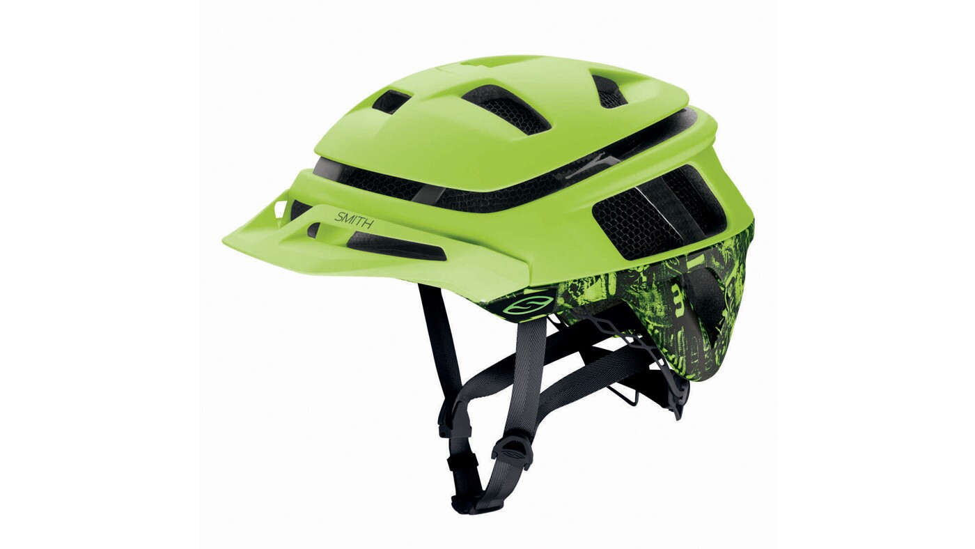 This helmet uses Aerocore material, which is lighter than foam and ventilates well while providing protection. The helmet includes a built-in GoPro camera mount.