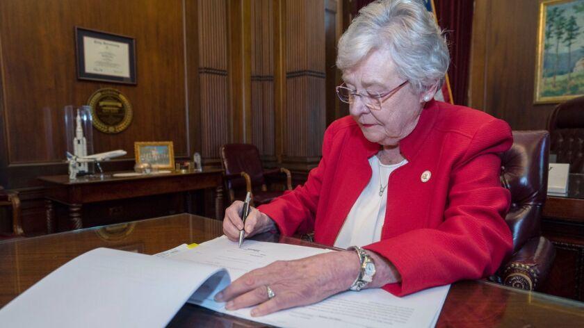 Alabama Governor signs Human Life Protection Act, Montgomery, USA - 15 May 2019
