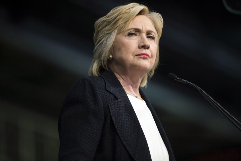 In this July 8,2016, photo, Democratic presidential candidate Hillary Clinton speaks at the African Methodist Episcopal church national convention in Philadelphia. Clinton is struggling to make inroads among young Americans who overwhelmingly supported Bernie Sanders during the Democratic president