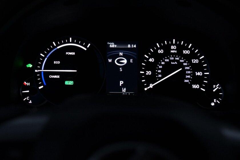 Eco gauge.