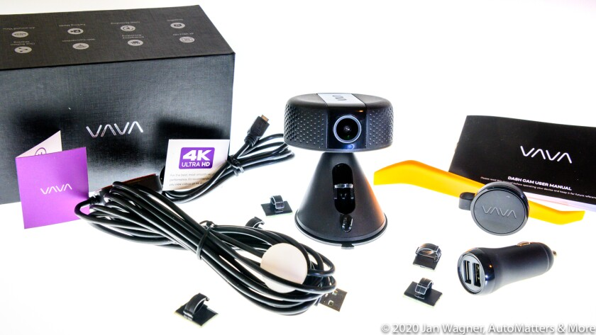 VAVA 4K dash cam & accessories