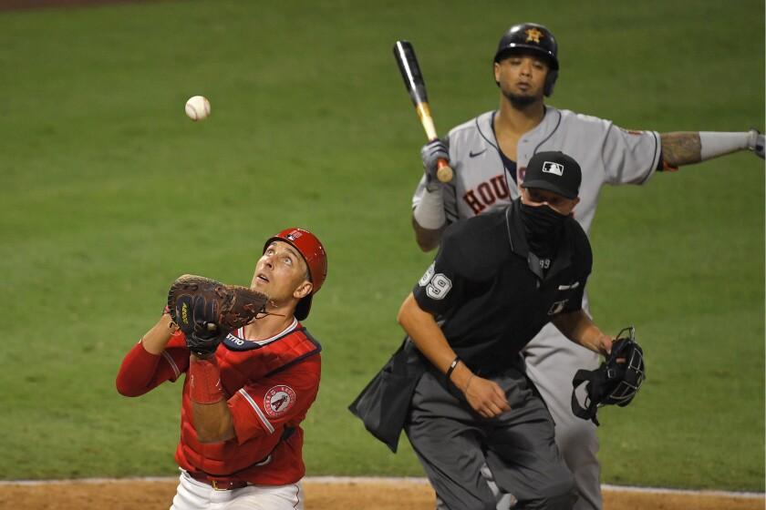 Los Angeles Angels catcher Jason Castro