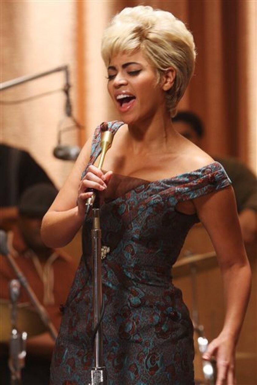 """In this image released by Sony TriStar Pictures, Beyonce Knowles portrays Etta James in a scene from, """"Cadillac Records."""" (AP Photo/Sony TriStar, Eric Liebowitz)"""