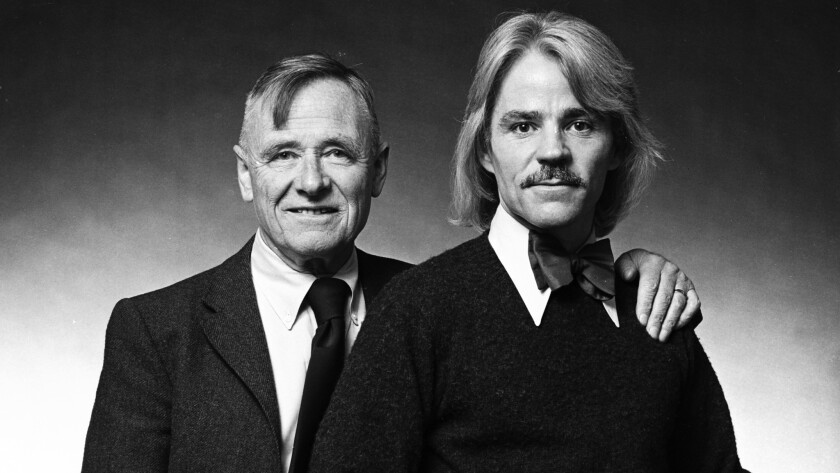 Christopher Isherwood, left, with Don Bachardy in 1974