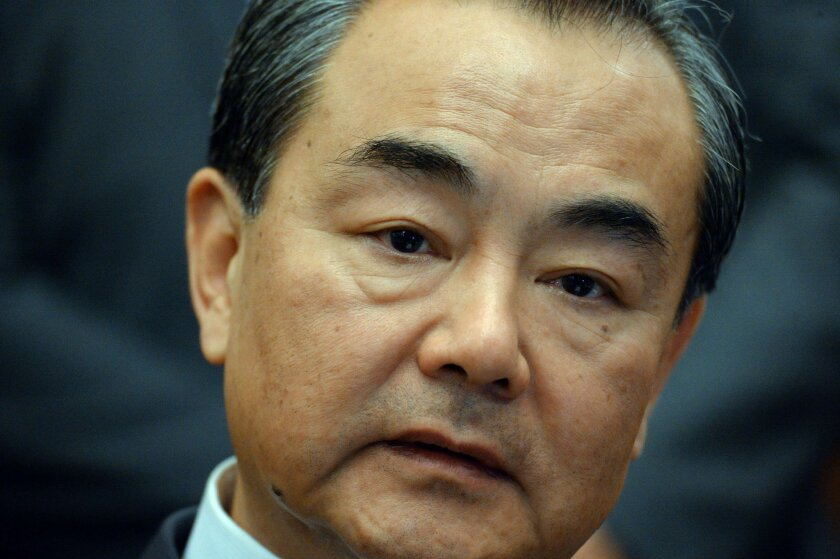 Chinese Foreign Minister Wang Yi met with the Los Angeles Times in Beijing ahead of talks between his country and the U.S.