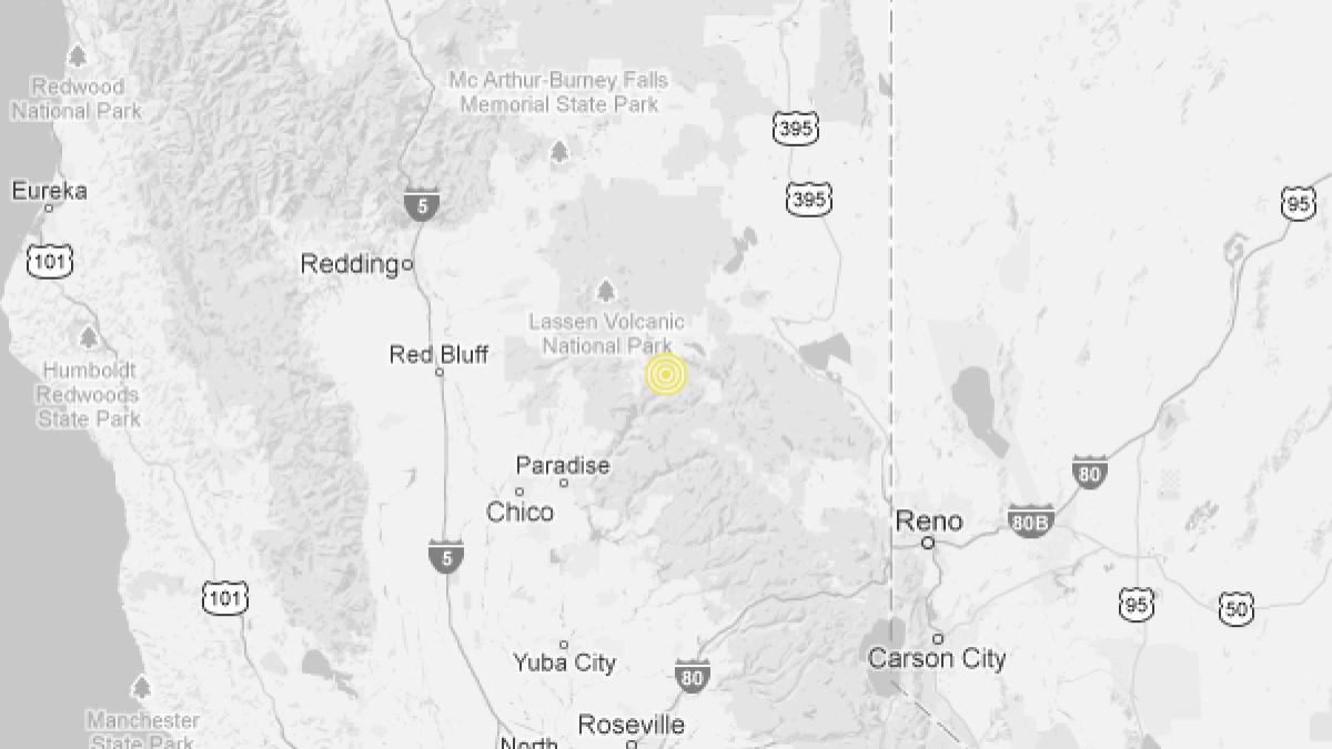 Earthquake 3 1 Quake Strikes Near Greenville Calif Los Angeles Times