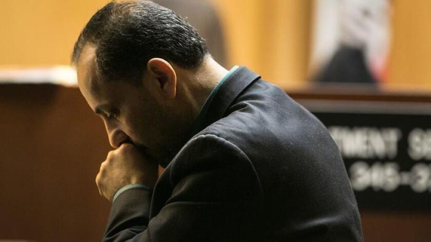 Morrad Ghonim en su juicio en Norwalk, este año (Robert Gauthier / Los Angeles Times).