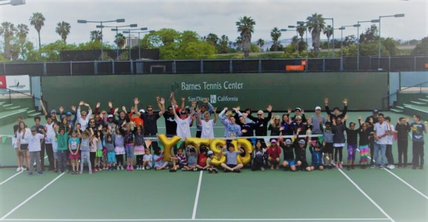 George E. Barnes Family Junior Tennis Center court.