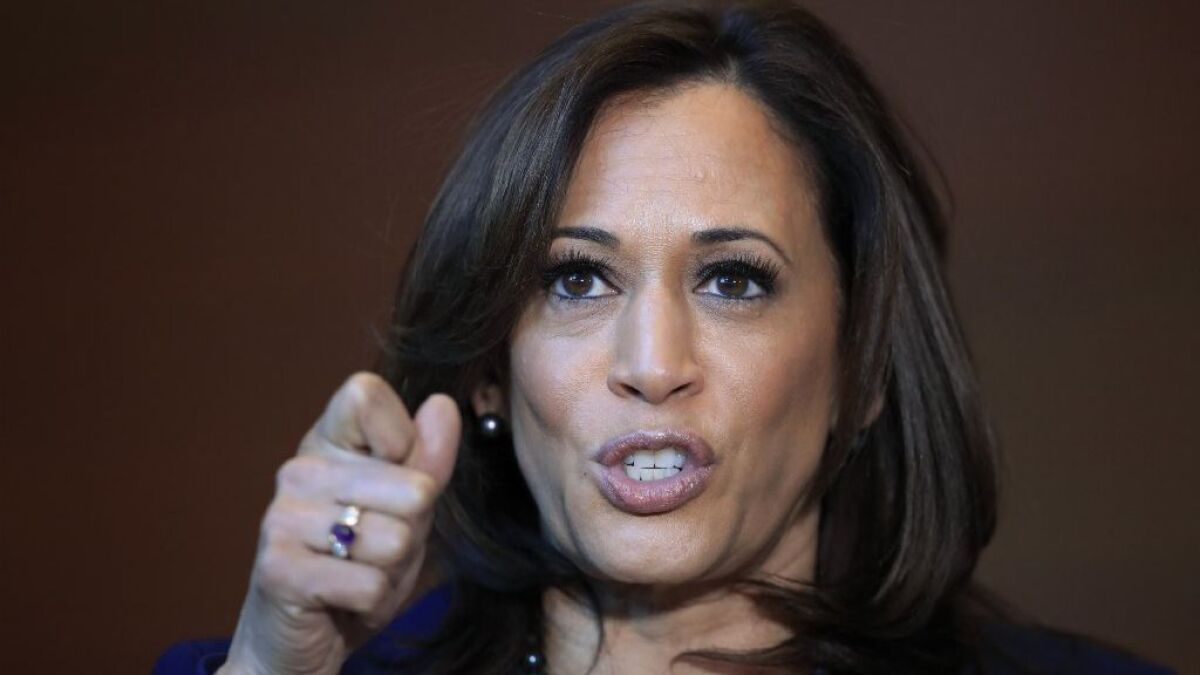 Commentary: The two areas Kamala Harris is most vulnerable to political  attacks - The San Diego Union-Tribune