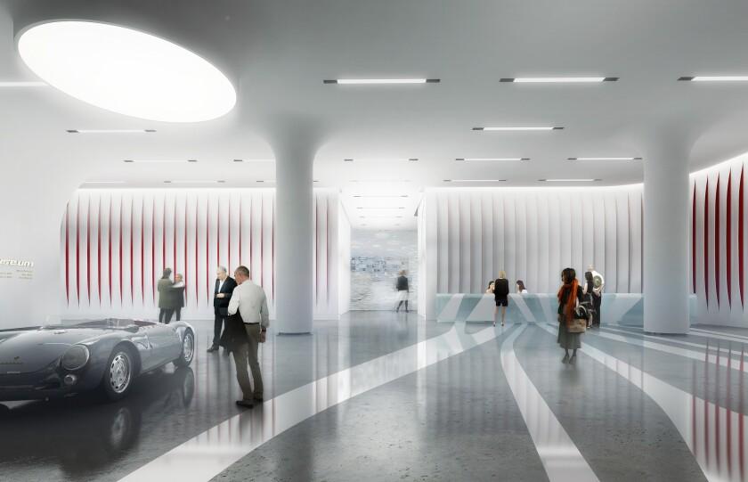 Proposed design for Petersen Automotive Museum