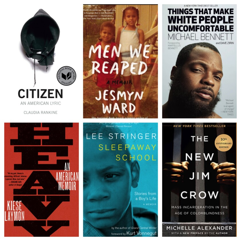 Six of the 13 nonfiction books on the black experience in America.
