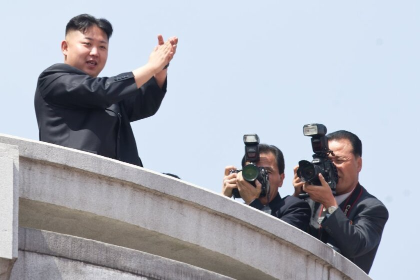 """North Korean leader Kim Jong-Un -- the Onion's """"Sexiest Man Alive"""" -- attends a military parade in Pyongyang."""
