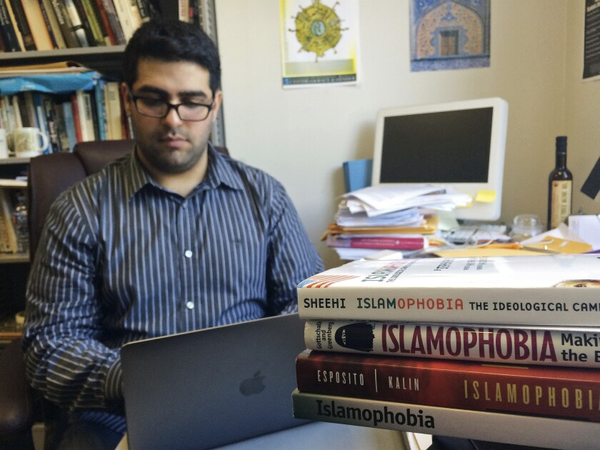 Khairuldeen Makhzoomi, a UC Berkeley student, says he was unfairly removed from a flight at Los Angeles International Airport because a fellow passenger was alarmed by a conversation he was having in Arabic.