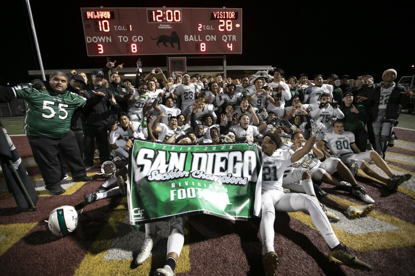 The proud Oceanside high football team had it's final two games canceled on Thursday after a positive COVID-19 test.