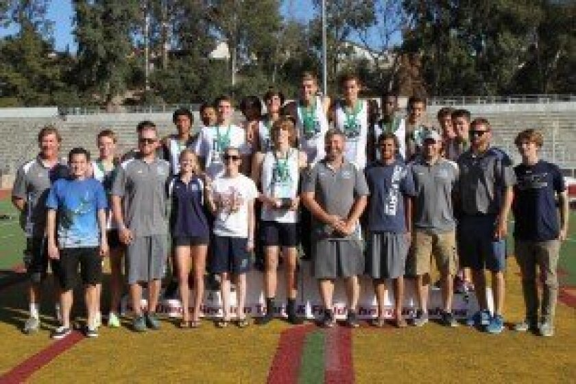 The Del Norte High boys track and field team captured the Division II section title. Photo by Sherri Cortez
