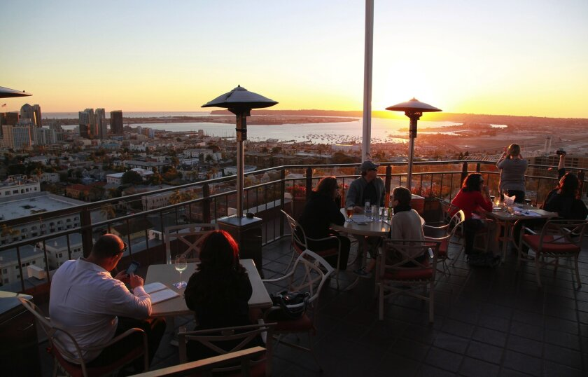Diners at Mister A's can enjoy a panoramic view of the downtown San Diego area. The Bankers Hill restaurant was one of 10 local spots named to OpenTable's 2018 list of America's 100 most scenic restaurants.