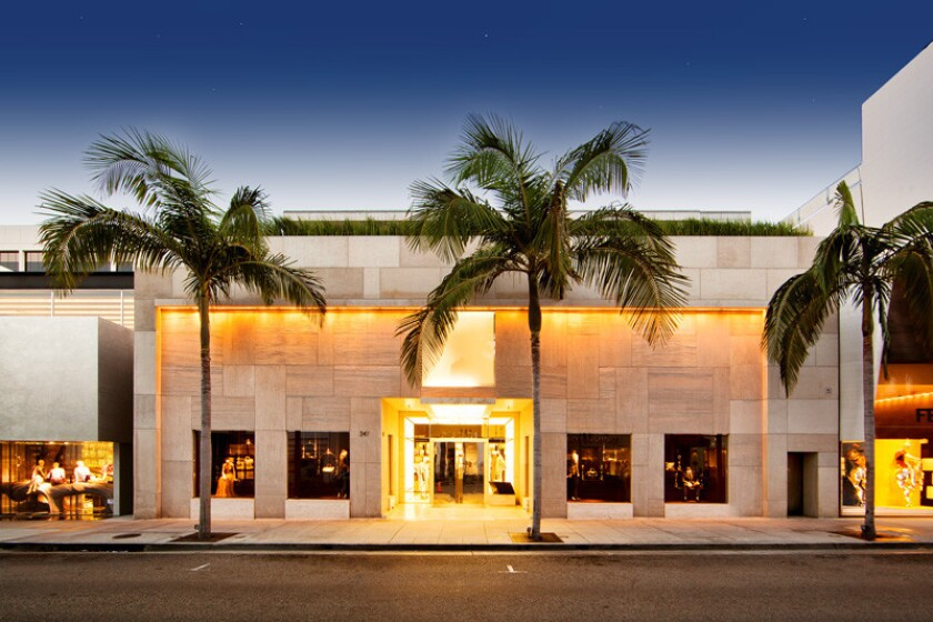 The Gucci building at 347 N. Rodeo Drive in Beverly Hills.