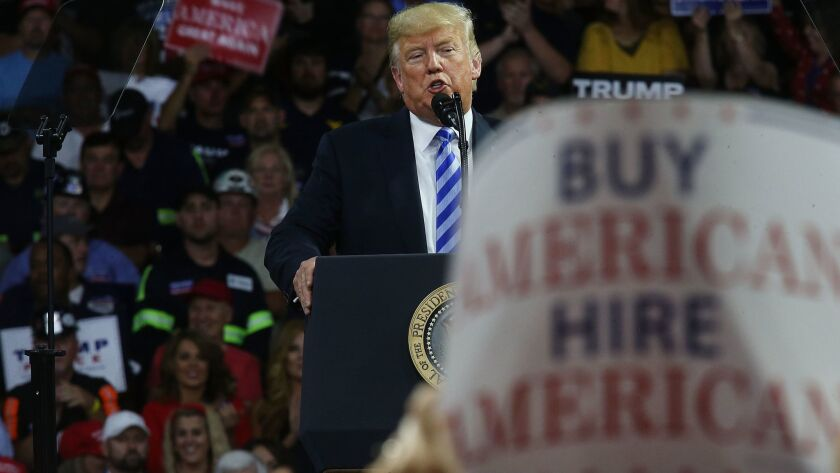Donald Trump Holds Rally In Charleston, West Virginia