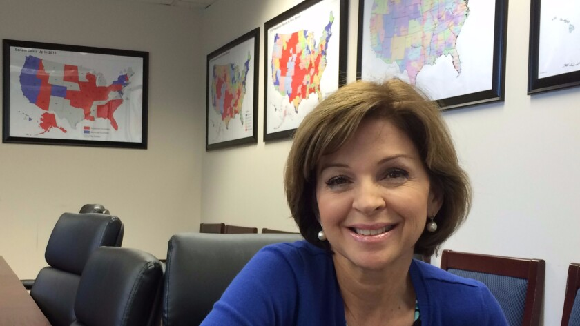 Helen Aguirre Ferre at the Republican National Committee headquarters in Washington.