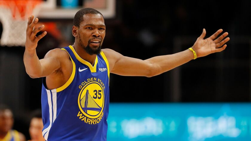 989d6191ecebd Column: Kevin Durant proves he's the NBA crybaby and not an option for the  Lakers after comments about LeBron James