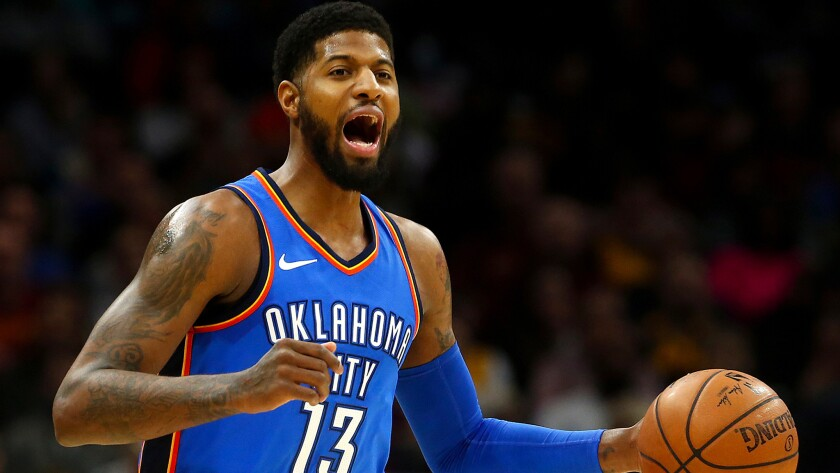 Paul George will have a tough decision to make this offseason: re-sign with Oklahoma City or possibly return home to L.A.