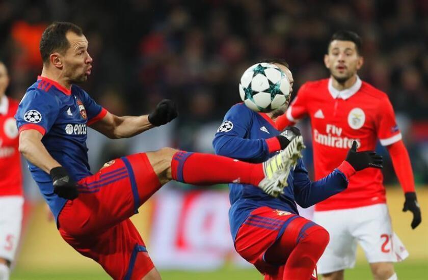 2-0. El CSKA apea a un triste Benfica y sueña con los octavos de final