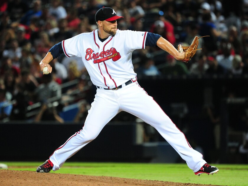 The Dodgers added another experienced bullpen arm in Braves closer Jim Johnson.