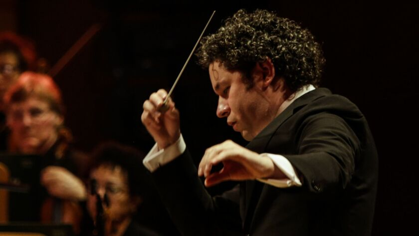 LOS ANGELES, CA -- THURSDAY, OCTOBER 11, 2018-- The Los Angeles Phil conductor Gustavo Dudamel perfo