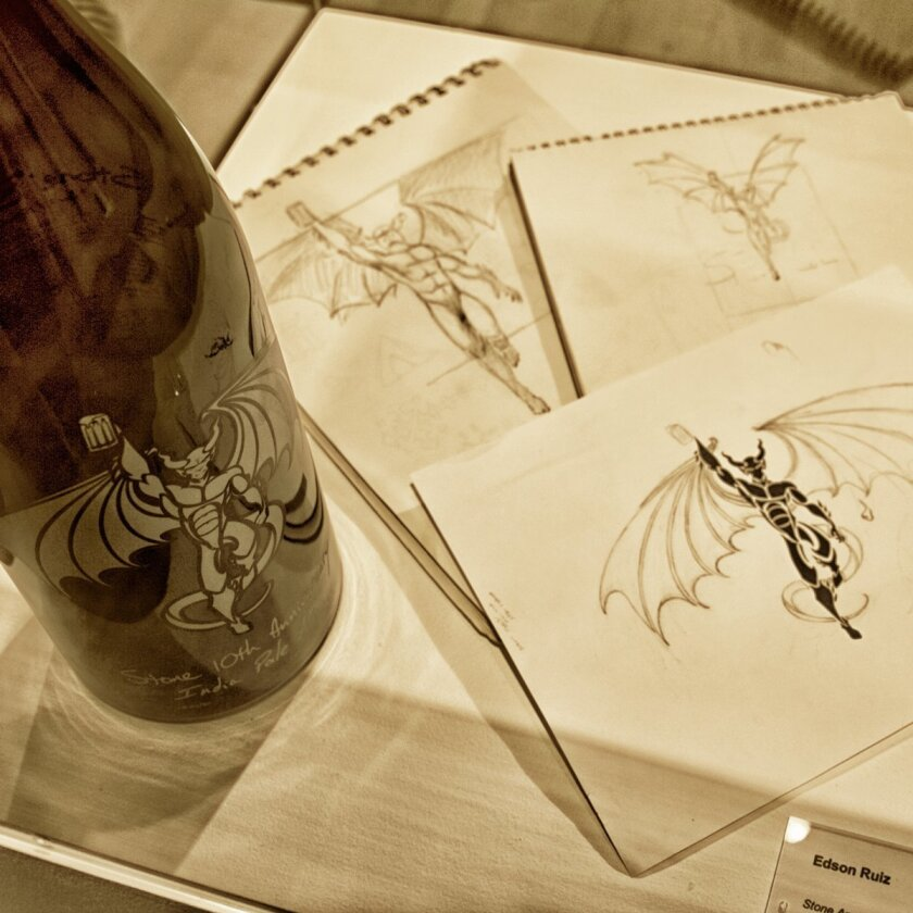 "Art from Stone Brewing Co. will be included in a special museum event, ""Art Illustrated with The Stone Brewing Co.,"" on Saturday at the California Center for the Arts, Escondido. The museum's current exhibit features nearly 300 pieces of comic art."