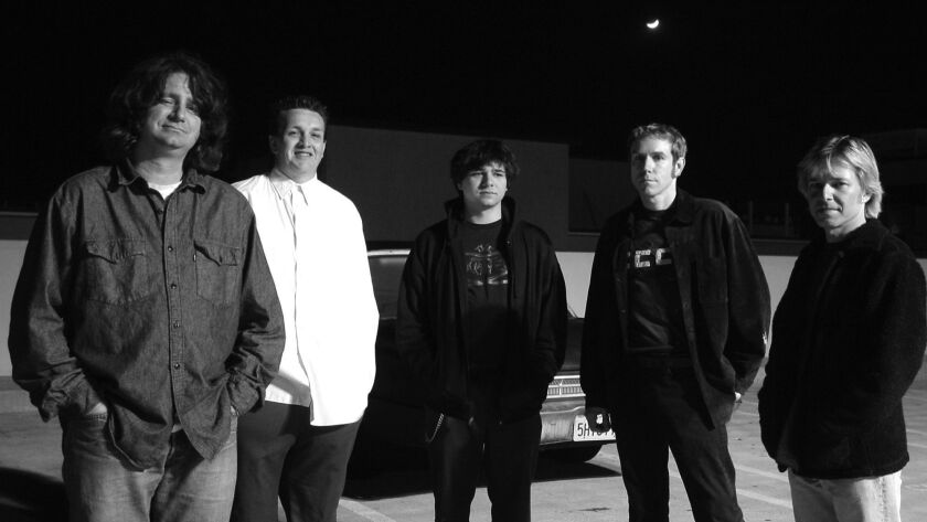 Steve Soto, second from left, founded punk band Adolescents. Other members, from left: Tony Cadena, Frank Agnew Jr., Derek O'Brien and Frank Agnew.